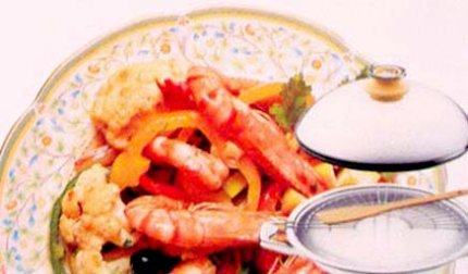 Рецепт: Креветки по-шанхайски