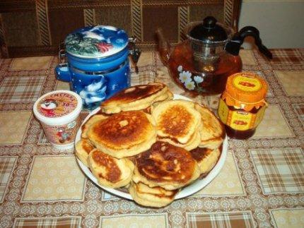 Рецепты:Оладьи медовые