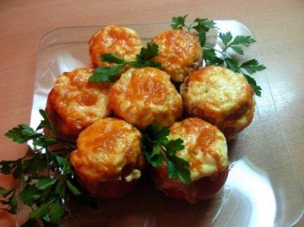 Рецепты:Помидоры, фаршированные курицей
