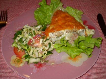Рецепт: Мясо с грибами и сыром