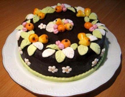 """Рецепт: Шоколадный торт с """"Фруктами"""""""