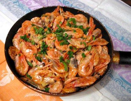Рецепт: Острые креветки
