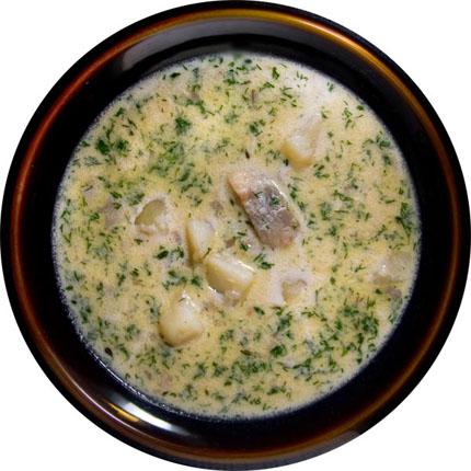 Суп с сельдью