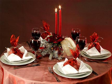 Новый год 2009. Как украсить новогодний стол? » НОВОГОДНИЕ ...: http://prigotovim.org/2008/12/17/kak-ukrasit-novogodnijj-stol.html