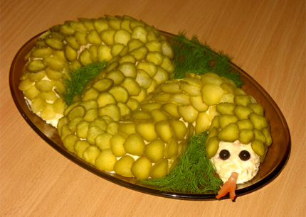 Салат новогодний Змейка