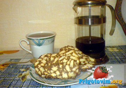 шоколадный рулет к чаю