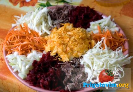 салат огород (татарский)